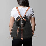 Canvas Backpack-shoulder Bag With Extra Large Capacity
