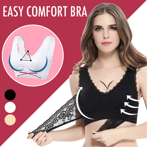 Seamless Lift Bra with Front Cross Side Buckle, Wireless Lift Support Bra