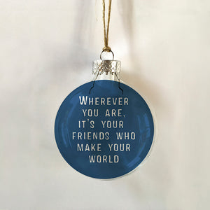 friends make world blue