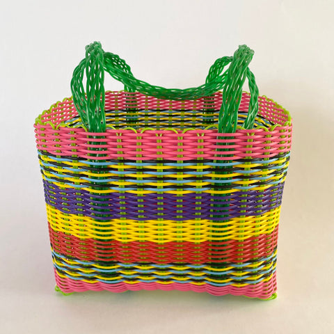 easter stripe handbag