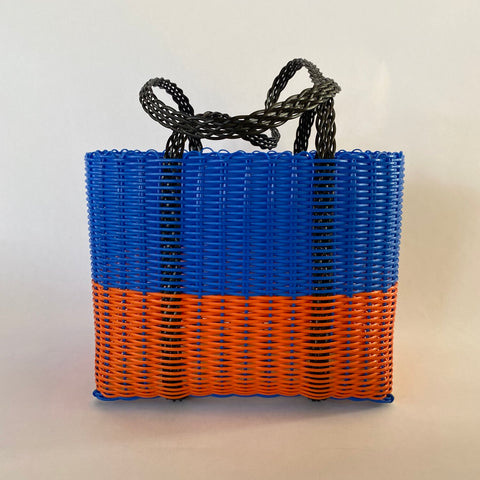 blue & orange handbag