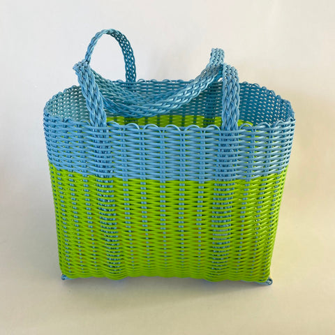 blue & green handbag