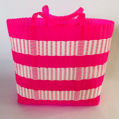 pink & white large bag