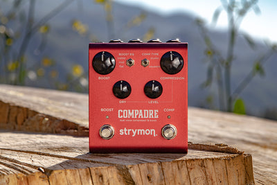 Strymon Compadre officially released and it's a Dual Voice Compressor and Boost.
