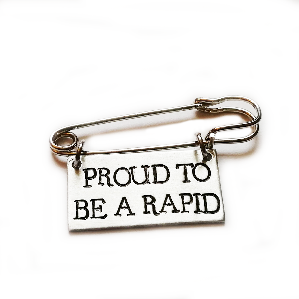 PROUD TO BE A RAPID ~ PIN BADGE