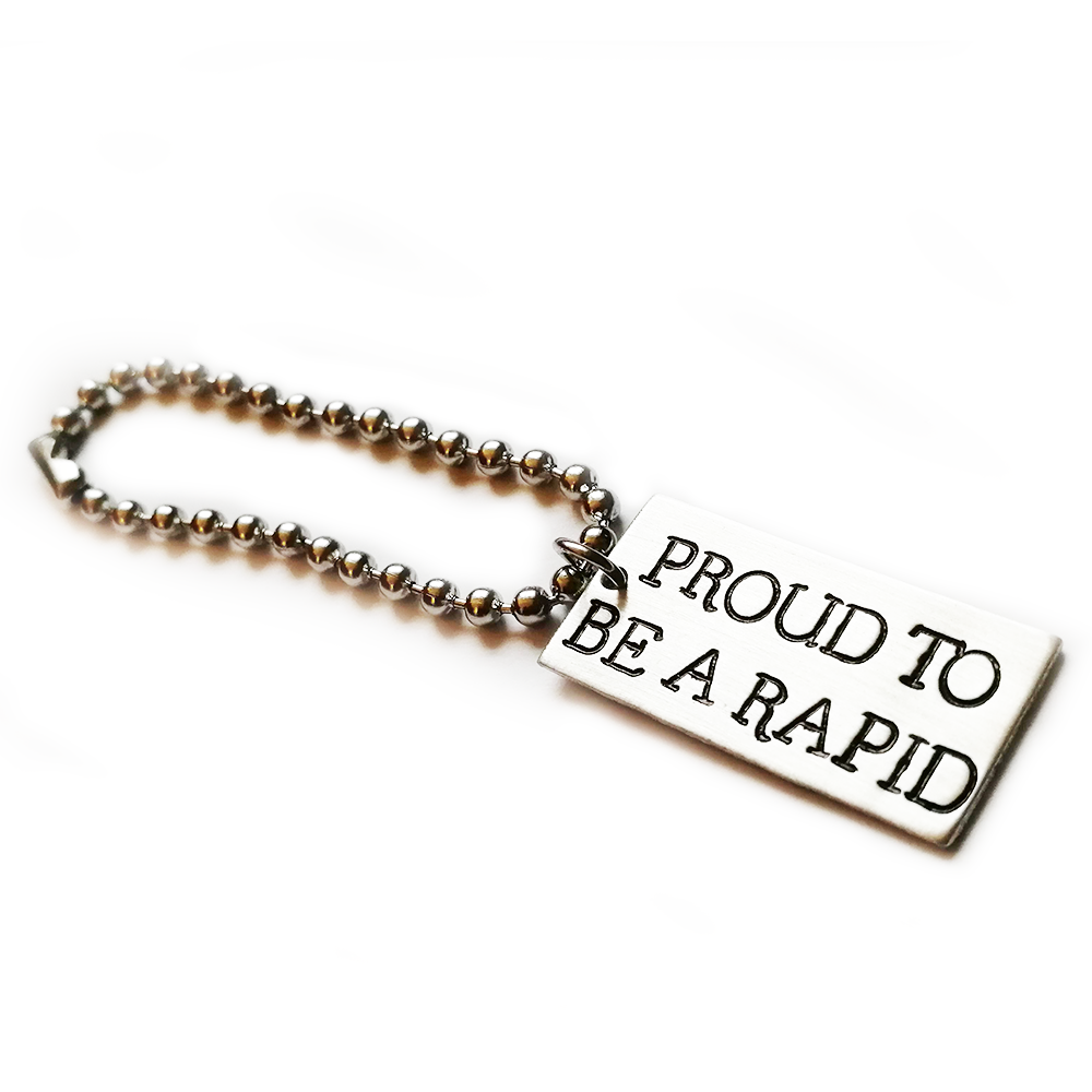 PROUD TO BE A RAPID ~ KEYRING