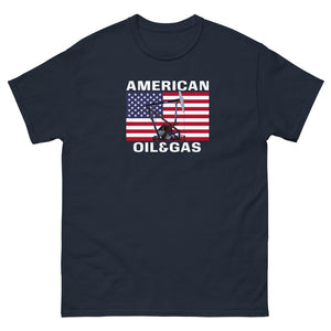 AMERICAN OIL AND GAS T SHIRT - Men's heavyweight tee
