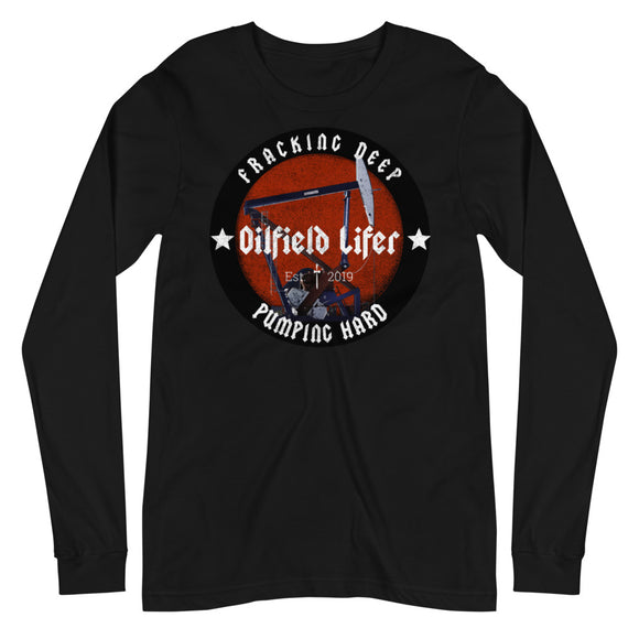 OILFIELD PUMPJACK - Unisex Long Sleeve Tee