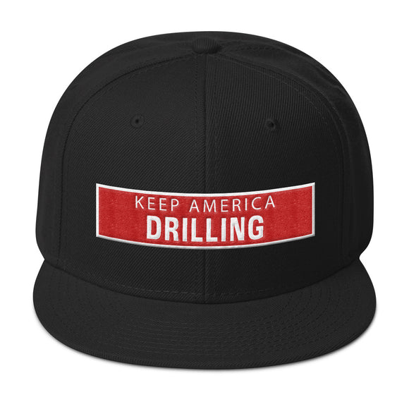 Snapback Hat - KEEP AMERICA DRILLING