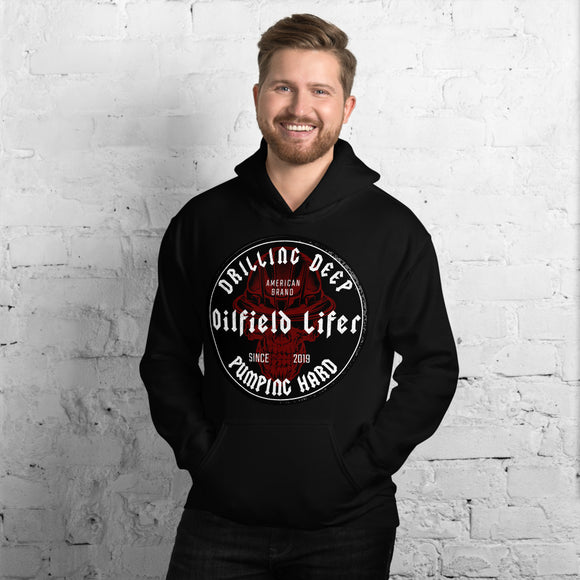 RED BLK OILFIELD LIFER - Hooded Sweatshirt