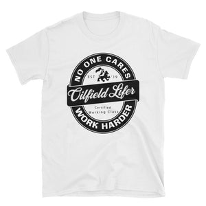 BLK - WHT - Oilfield Lifer - Short-Sleeve T-Shirt