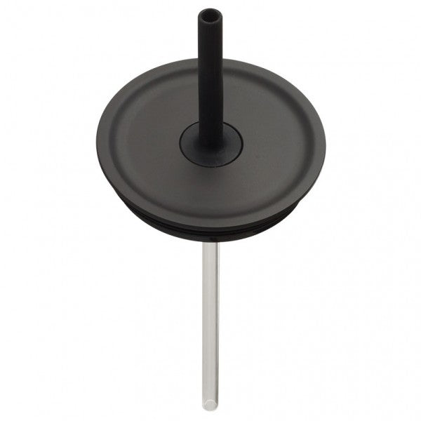 Large Press-In Straw Lid Black
