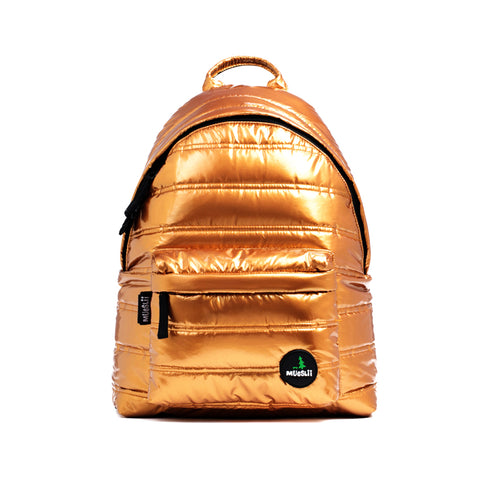 Mueslii RCM Unisex Smart Backpack Metallic Gold