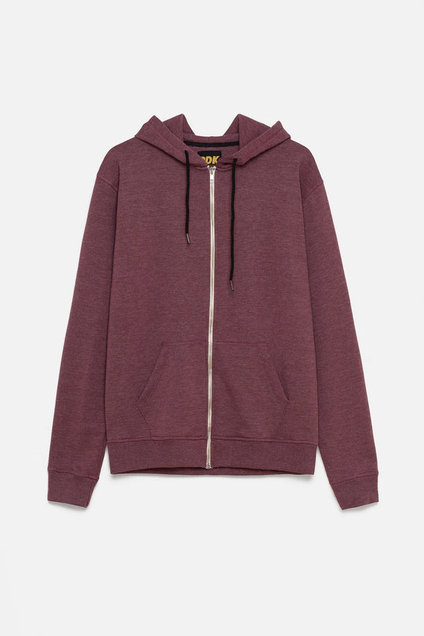 BURGUNDY ZIP-UP