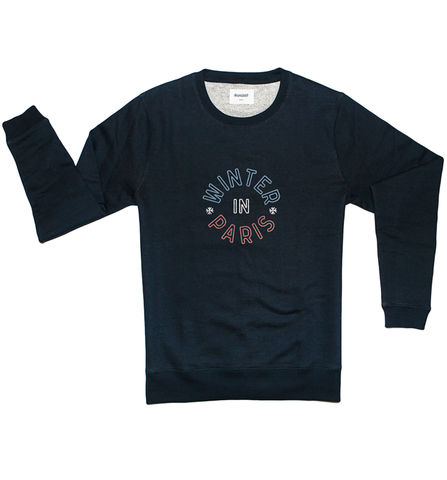 Sweatshirt - Winter in Paris - Navy