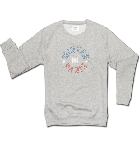 Sweatshirt - Winter in Paris - Gris