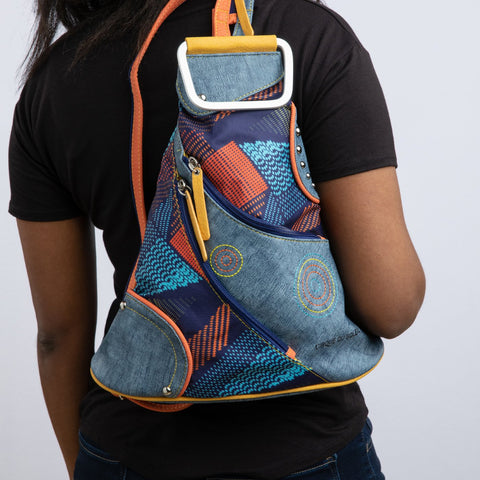 Cirque du Soleil Denim Triangle Backpack