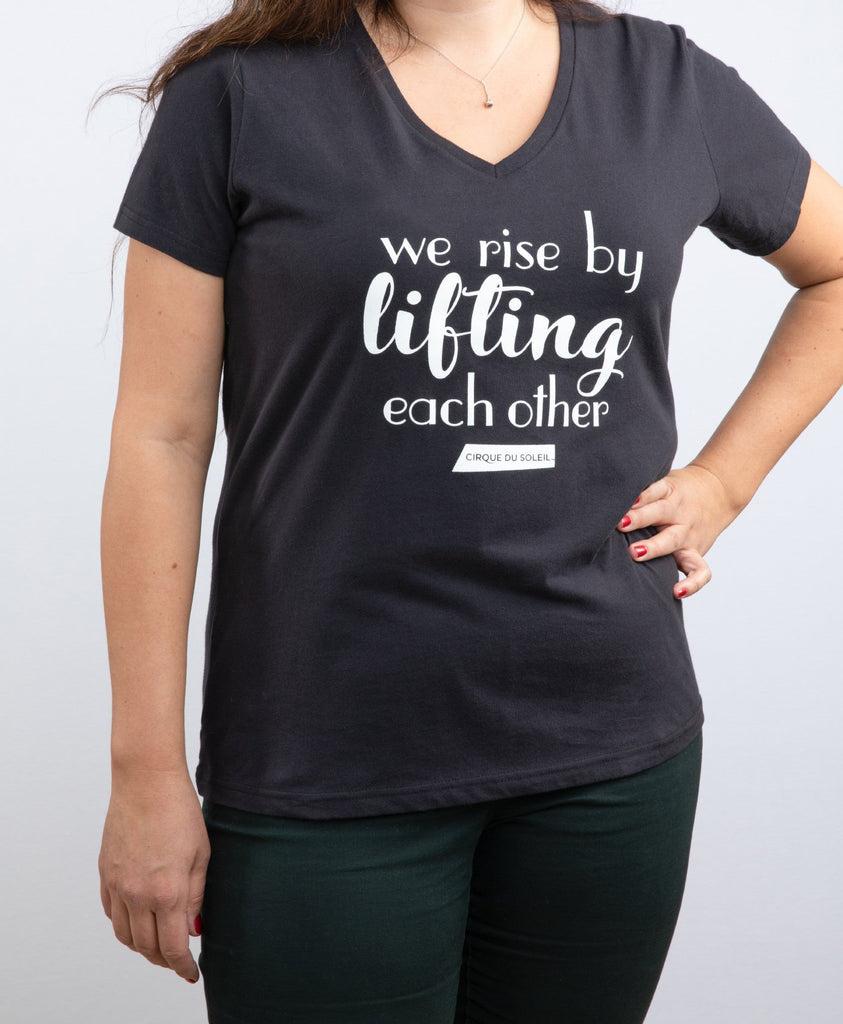 "Women's ""We Rise By Lifting Each Other"" Tee 