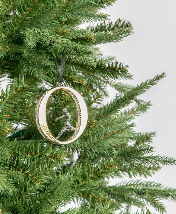 """O"" Christmas Tree Ornament 