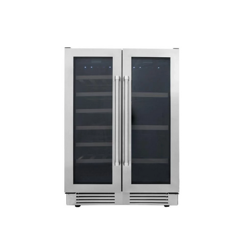 "Thor Kitchen Wine Center- 24"" Wide 21 Bottles Dual Zone w/Stainless Steel Dual Door TBC2401DI"