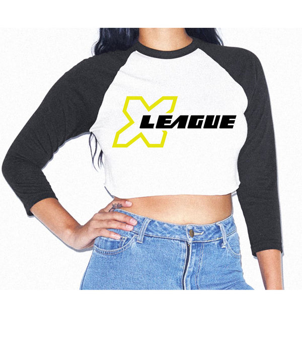 X League Crop 3/4 Baseball Tee