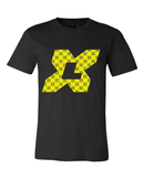 X League Monogram Pattern Black Tee