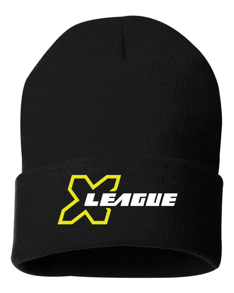 X League Embroidered Beanie Hat