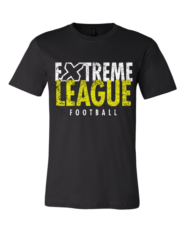 Extreme League Distressed Text Black Tee