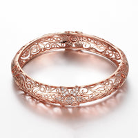 Z025-B Noble Zircon Carving Pattern Rose Gold Bracelet