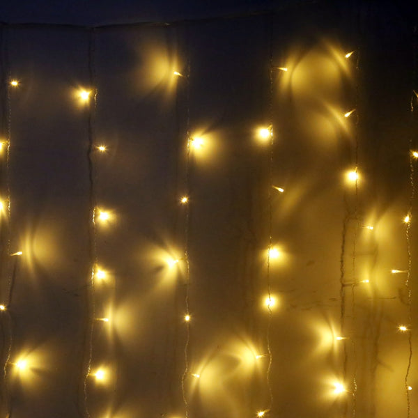AC 220V 3M Droop 1M Curtain Icicle String Light 150 LEDs Decorative Lamp