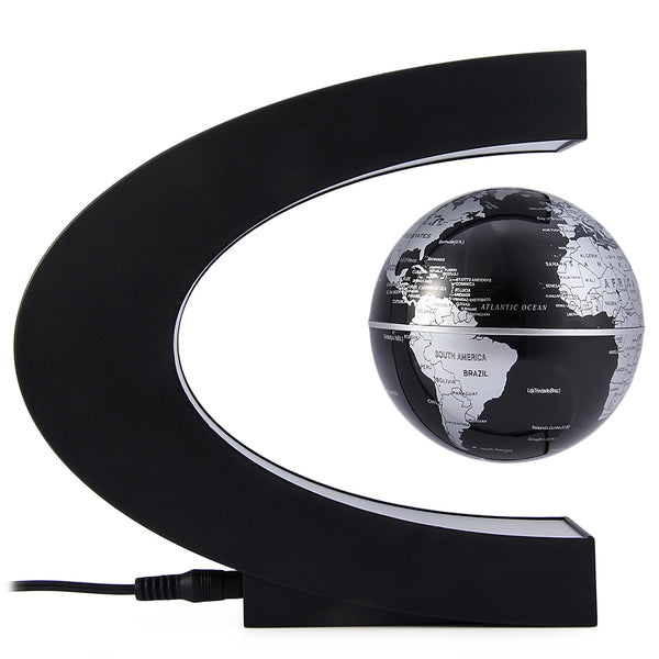 Novelty C Shape Magnetic Levitation Floating Globe Toy Gift