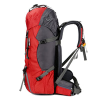 60L Large Capacity Waterproof Mountaineering Bag Outdoor Backpack with Rain Cove