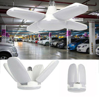 45W/ 60W/ 80W LED Garage Light E27/ E26 Colorful Workshop Ceiling Lights Fixture Deformable Lamp Lampen Industrieel AC 85-265V