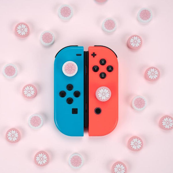 Cute Girl Flower Sakura Thumb Stick Grip Cap Joystick Cover For Nintend Switch Lite NS JoyCon Controller Gamepad Thumbstick Case