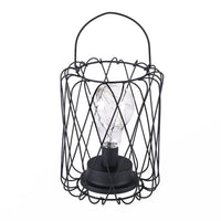 Geometric Shape LED Desk Lamp Wrought Iron Bedside Decorative Night Light