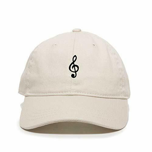 Music Note Baseball Cap Printed Cotton Adjustable Dad Hat