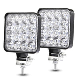 48W Work Light 30 Degree LED Car Spot light Beam Square Off-road Lamp Light Fog Lighting Exterior For Jeep Boat/SUV/Truck