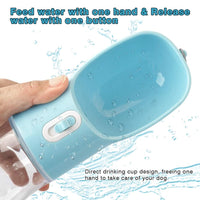 Pet Dog Water Bottle Portable Drinking water Feeder Bowl dog cat food feeding for Puppy dog cat Outdoor Walking Travel Supplies