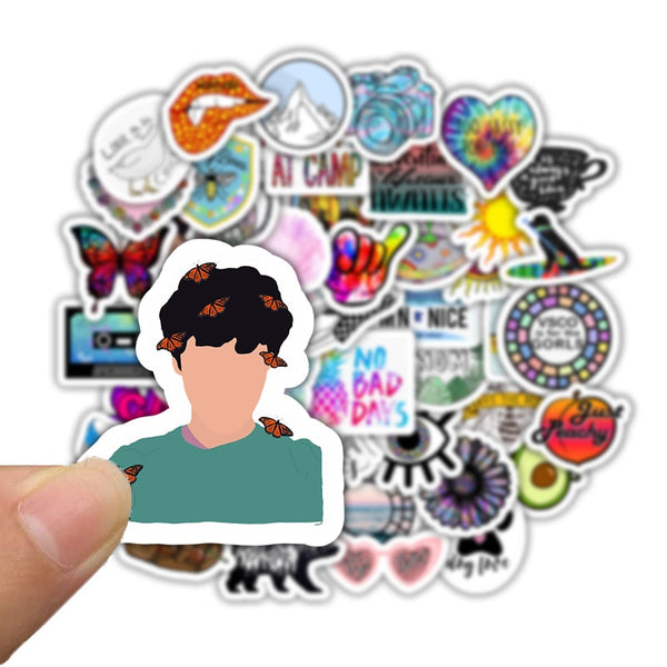 50pcs Vsco INS Style Sticker Anime For Laptop Case Car Skateboard Motorcycle Girl For Kids Children Toys Cool Animal Sticker F5