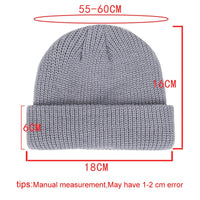 Unisex Winter Ribbed Knitted Cuffed Short Melon Cap Solid Color Skull Baggy Retro Ski Fisherman Docker Beanie Hat Slouchy Z106