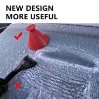 Car Magic Window Windshield Ice Scraper Funnel Snow Remover Deicer