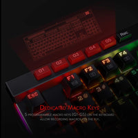 Redragon K580 VATA Mechanical Gaming Keyboard RGB LED Backlit 104 Keys Anti-Ghosting Macro Keys Blue Switches for DOTA 2 Gamers