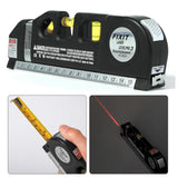 4 in 1 Infrared Laser Level Cross Line Laser Multipurpose Level Laser Horizon Vertical spirit level tool with 2.5m measure tape
