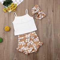 Pudcoco Brand 3PCS Summer Clothing Set newborn baby girl clothes roupa de bebe menino baby outfit