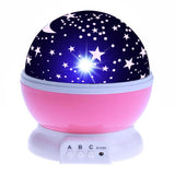LED Rotating Night Light Projector Starry Sky Star Master Projection lamp Children's Room Decorated  Lights  Christmas gift