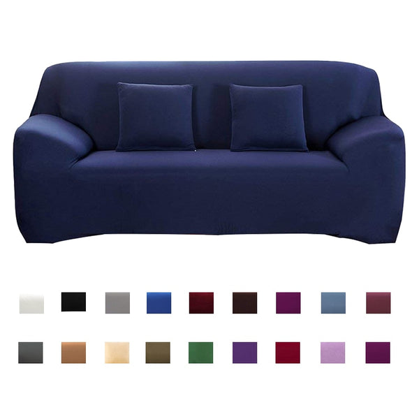 Solid Color Sofa Cover Big Elasticity Stretch Couch Cover Loveseat Sofa Corner Sofa Towel Furniture Cover 1/2/3/4 Seater