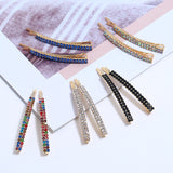 1/12 pcs Rhinestones Hair Clip For Women Hair Accessories Crystal Hair Clips Girls Barrette Hair pins  Hair Jewelry headdress