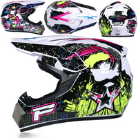 Professional Racing Motocross Casque hors route Casque Moto Capacete Moto Casco Off-road Cartoon Children Motorcycle Helmet