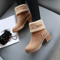 Women Winter Fur Warm Snow Boots Ladies Warm wool booties Boot Comfortable Shoes plus size 35-43 Women #YL5