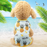 Dog Couple Tshirt Dress Puppy Couple Outfit Summer Sweet Pet Clothes for Small Dogs Chihuahua Yorkshire Cat Clothing Vest Shirt